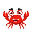 crab cartoon or crab clipart cartoon vector image