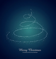 creative merry christmas greeting vector image
