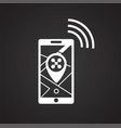 drone live tracking monitor icon on black vector image