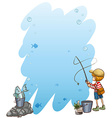 Empty template with a boy vector image vector image