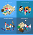 family issues isometric design concept vector image vector image