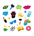 fashion stickers vector image