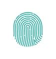 fingerprint Icon Image Flat fingerprint icon app vector image vector image