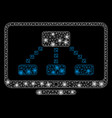 flare mesh carcass hierarchy monitor with flare vector image vector image