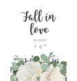 floral card design with garden white powder peony vector image