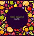 fruits frame colorful vitamin healthy set vector image vector image