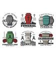 funeral service funerary urn columbarium vector image vector image
