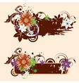 Grugne floral banners vector image vector image