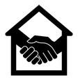 handshake and house vector image