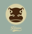 hippo logo vector image vector image