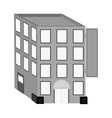 hotel building isolated icon vector image
