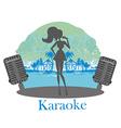 Karaoke night icon vector image vector image