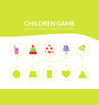 match objects with shapes educational game vector image vector image