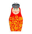 matryoshka russian folk doll national toy vector image vector image