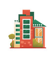 modern house building real estate front view vector image vector image