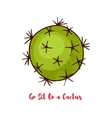Motivational quote Go Sit On a Cactus vector image vector image