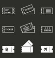 movie ticket icon vector image vector image