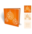 Orange christmas greeting card with balls from vector image vector image