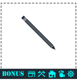 Pencil icon flat vector image vector image