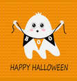 pretty halloween ghost vector image