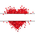 red heart isolated with banner vector image