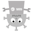 robot body hanging upside down screw nose clock vector image