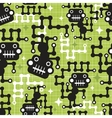 Robot monkey seamless pattern vector image vector image