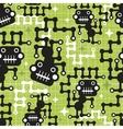 Robot monkey seamless pattern vector image