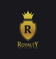 royalty hotel luxury hotel logo and emblem vector image