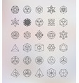 Sacred geometry Alchemy hipster symbols vector image