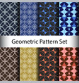 set geometric seamless pattern background vector image vector image