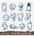 Set of hand drawn freaks vector | Price: 1 Credit (USD $1)