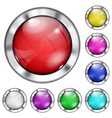 Set of opaque glass buttons vector image
