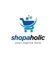 shopping cart logo design inspiration vector image