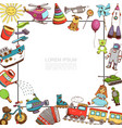 sketch toys template vector image vector image