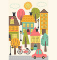 small town urban landscape vector image vector image