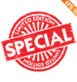 Stamp sticker limited collection - - EPS10 vector image vector image