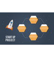 start up project step concept business infographic vector image