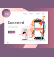 succeed website landing page design vector image vector image