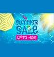 summer sale background warm sea plumeria flower vector image vector image