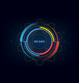technology innovative big data concept background vector image vector image