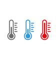 temperature symbol set vector image