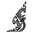thai painting kanok sticker vector image