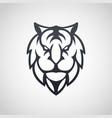 tiger logo icon vector image vector image