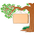 tree branch in spring theme image 3 vector image vector image