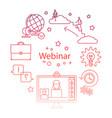 webinar line icon online education vector image