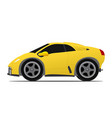 yellow race car vector image