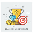 goals and achievements flat vector image