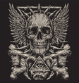 Heavy Metal inspired Skull Design vector image