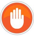 icon hand vector image
